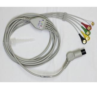 ЕКГ кабел за ПМ - 5 жилен