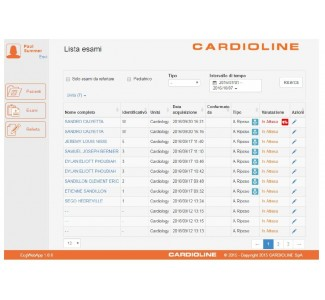 Софтуер CARDIOLINE ECG WebApp Personal